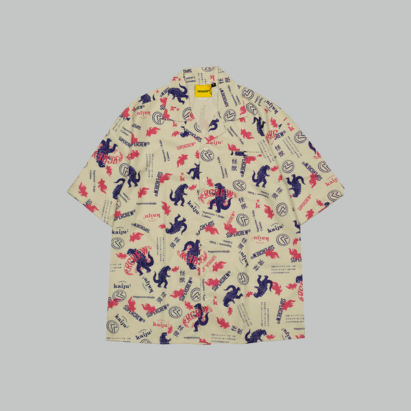 KAIJU X SUPERCREW CUBAN SHIRT (BEIGE)
