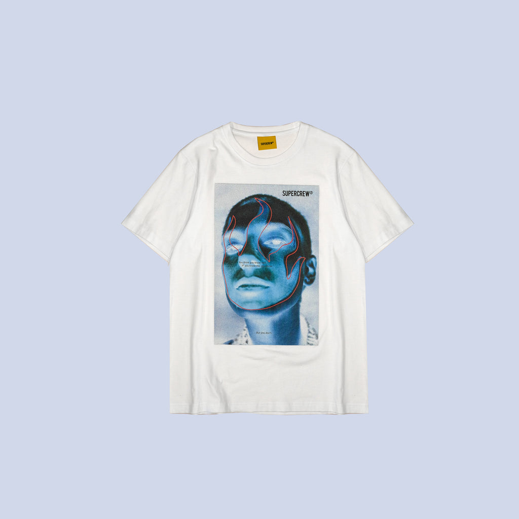 A DO YOU KNOW ME TEE (WHITE)