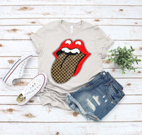 Designer Inspired Checkerboard Tongue T-shirt