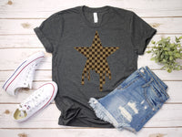 Designer Inspired Checkerboard Star T-shirt