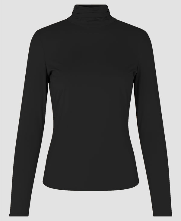 Melanie High Neck Blouse Noir
