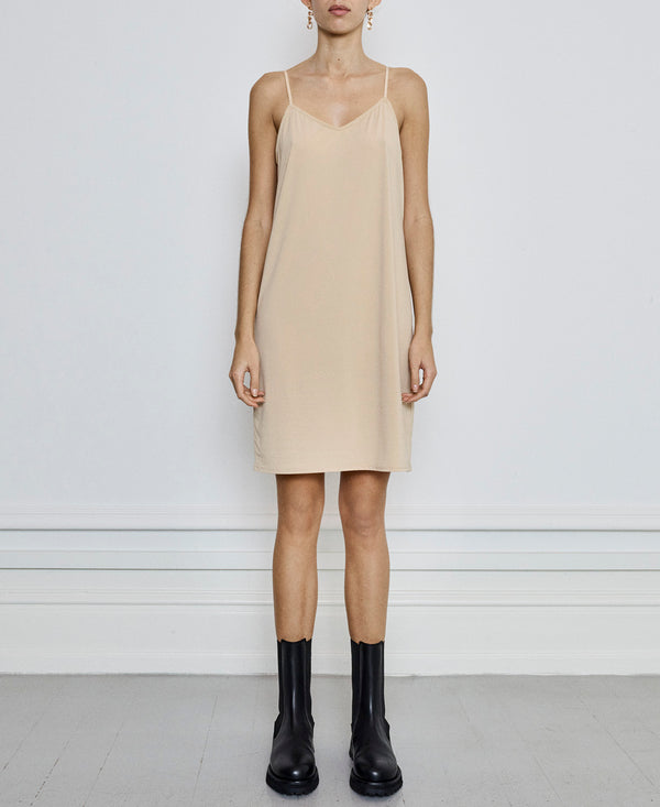 Melanie Slip Dress Nude