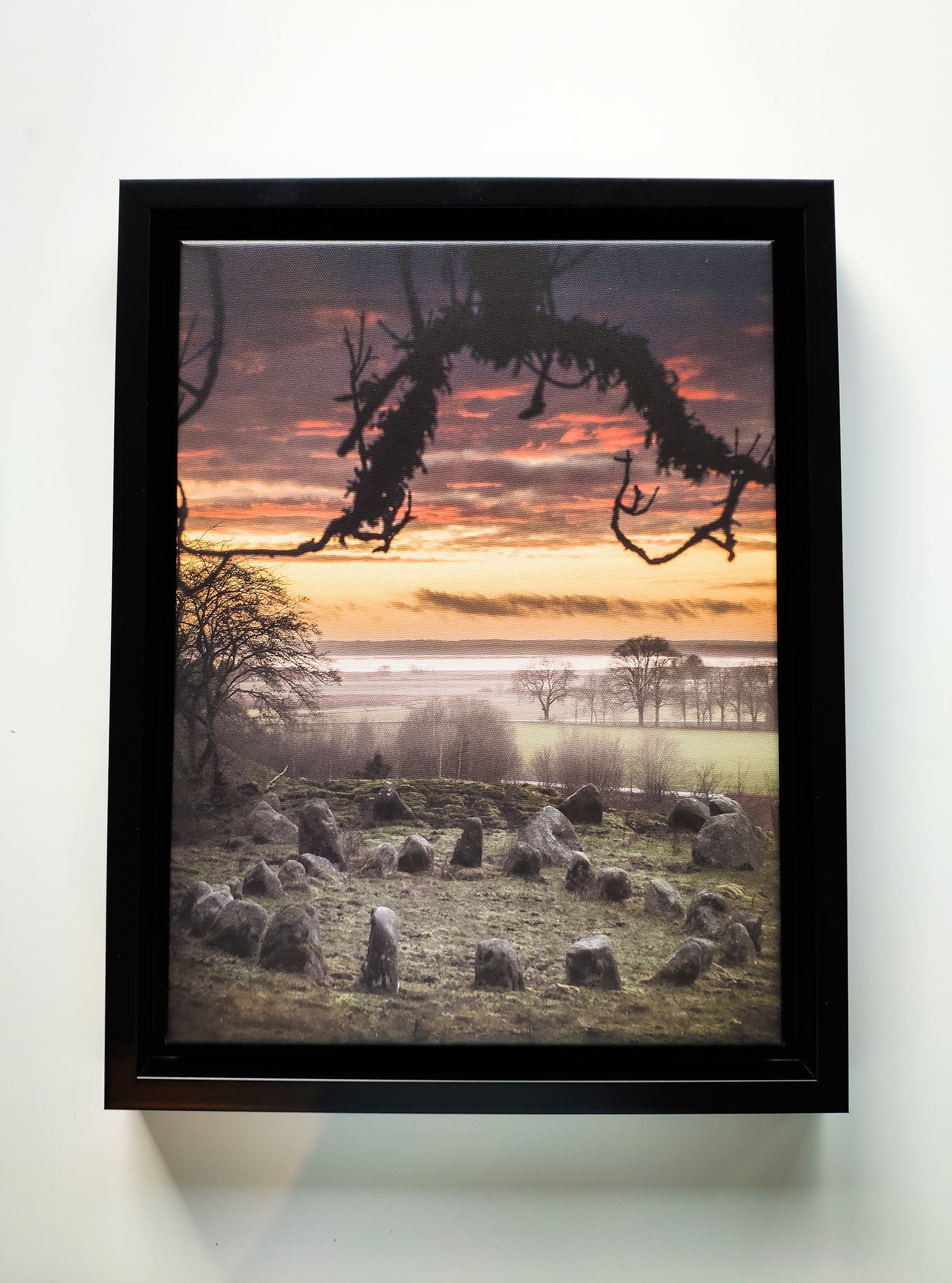 """... Muspells folk skall komma ..."" (""... there sails a ship with the people of Hel ..."", signed and framed canvas print)"