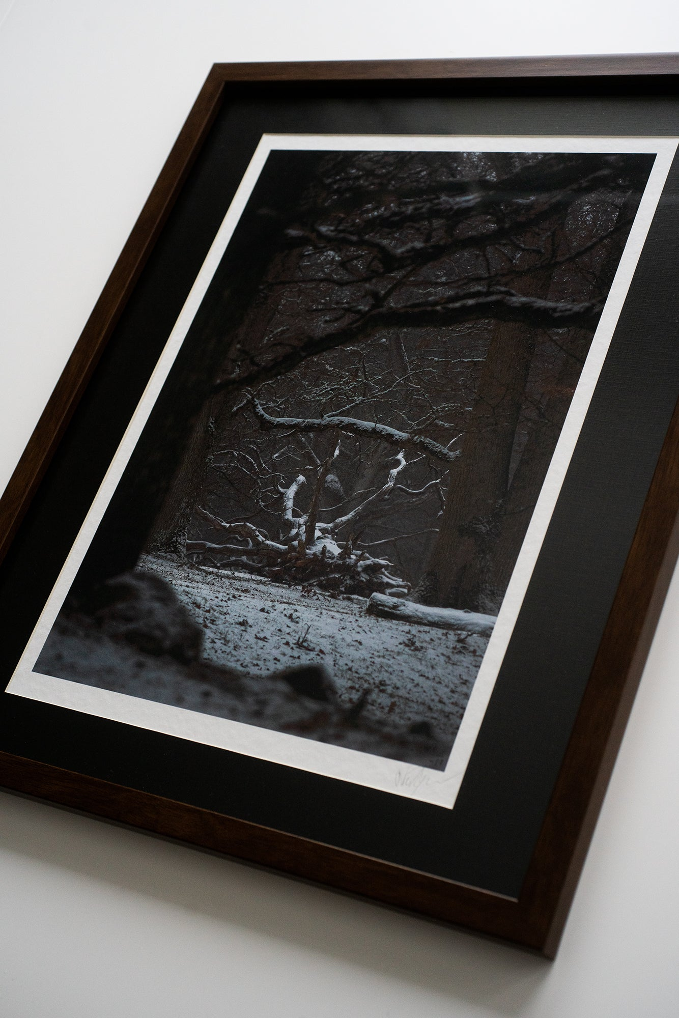 The Black Goat of the Woods (signed and framed matte A3 print - Hahnemühle Torchon FineArt)