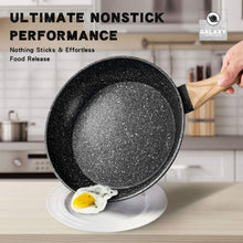 Load image into Gallery viewer, Stone Frying Pan with Lid | Nonstick Pan with Bakelite Handle | MICHELANGELO Galaxy Collection