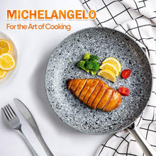 Load image into Gallery viewer, Granite Frying Pan with Lid | Stone Skillet with Lid | MICHELANGELO Granite Collection-Gray