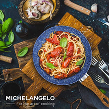 Load image into Gallery viewer, Granite Frying Pan with Lid Nonstick MICHELANGELO Color-Blue