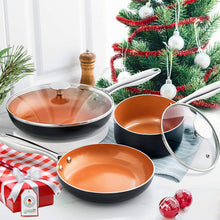 Load image into Gallery viewer, Cookware Set 5 Piece | Ultra Nonstick Pots and Pans | MICEHLANGELO Copper Collection