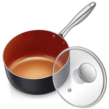 Load image into Gallery viewer, Saucepan with Lid | Small Pot with Lid | MICHELANGELO Copper Collection