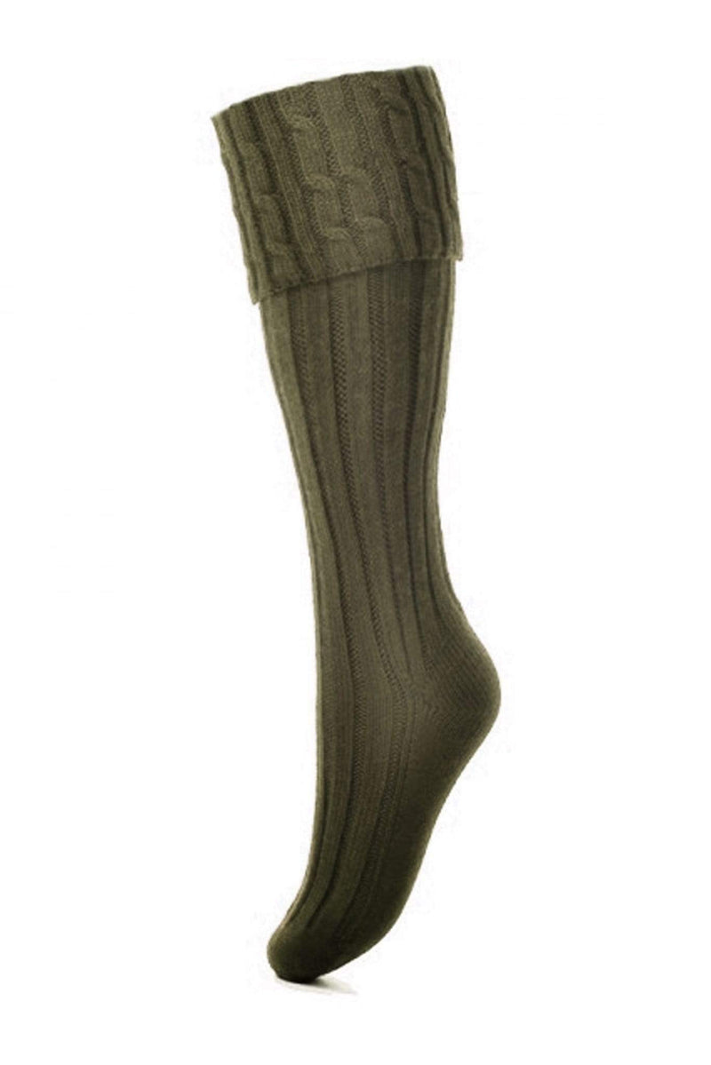House of Cheviot Socks House of Cheviot Lady Harris Ladies Shooting Socks Dark Olive