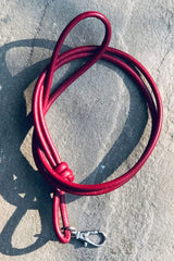 OTP Whistles & Lanyards OTP Rolled Nappa Leather Lanyard  Oxblood