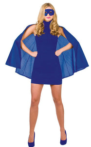 "Superhero 39"" Cape & Mask - Blue"