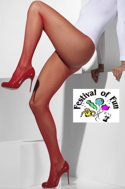Red Fishnet Tights