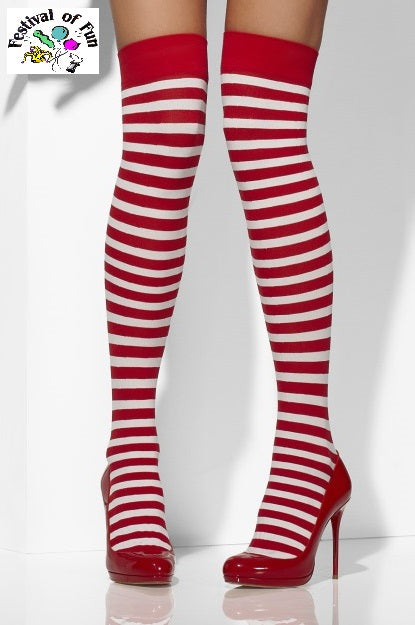Red & White Striped Stockings