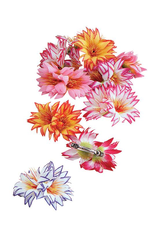 Flower Hairclip - Hawaiian - Hippie