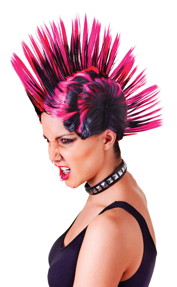 Mohican Wig Pink/Black