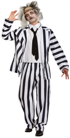 Crazy Ghost Costume - 80s Beetlejuice Style