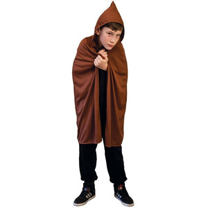 Hooded Cape - Brown (Children's Size)