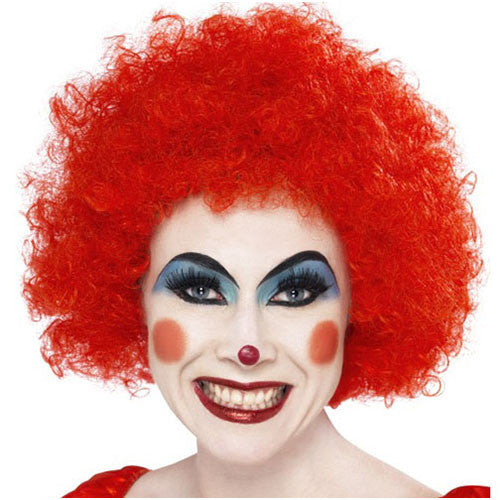Clown Afro Pop Wig - Red