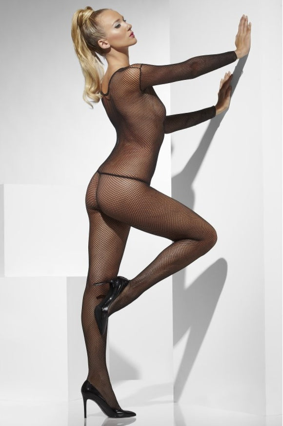 Body Stocking Fishnet Black - Lattice Net