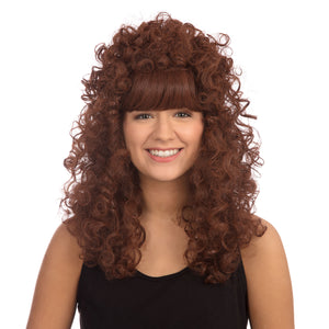 Long Curly Boogie Wig - Brown