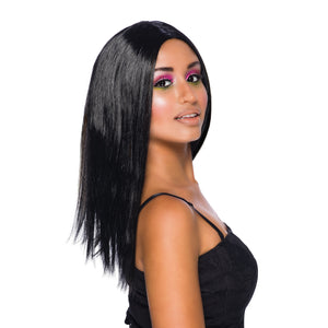 "Long Straight 18"" Wig - Black"