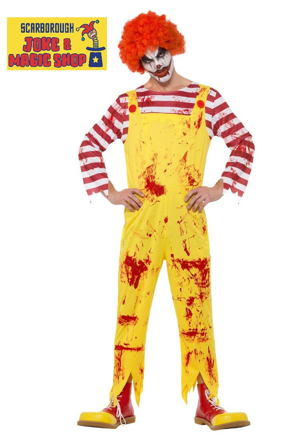 Kreepy Killer Clown Costume - McDonald Style