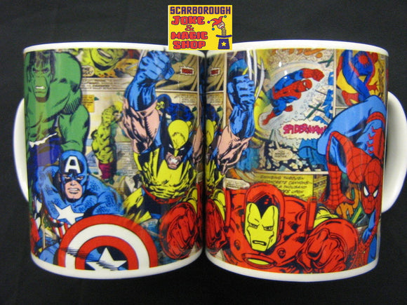 Super Heroes Comic Strip Mug