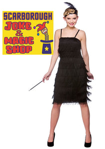 Jazzy Flapper Costume - Black 1920's Gangster Moll