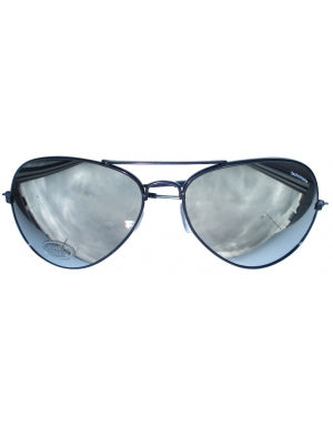 Aviator Shades - Silver Mirrored Sunglasses