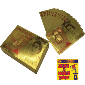 £50 Pound Gold Playing Cards