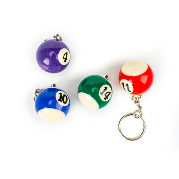 Colorful Billiards Pool Small Ball Keychain