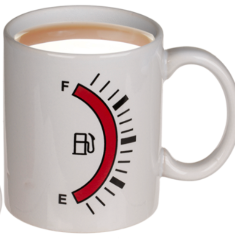 Fuel Gauge Heat Reactive Mug