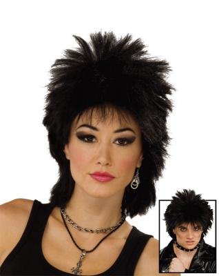 80s Rock Idol Wig - Black