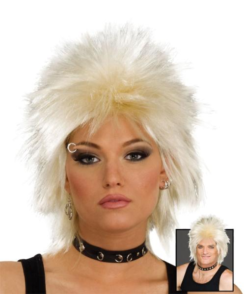80s Rock Idol Wig - Blonde