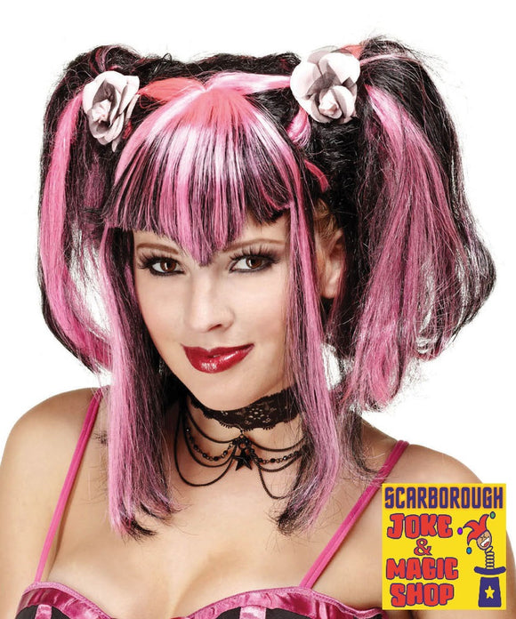 Bad Fairy Wig  Pink/Black
