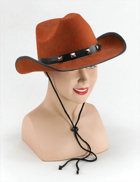 Felt Cowboy Hat - Brown