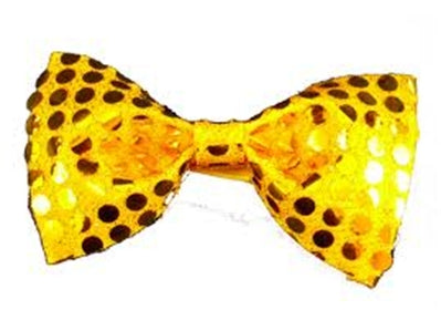 Sequin Bow Tie - Gold
