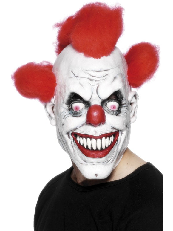Clown Horror Mask with Hair - IT Pennywise Style