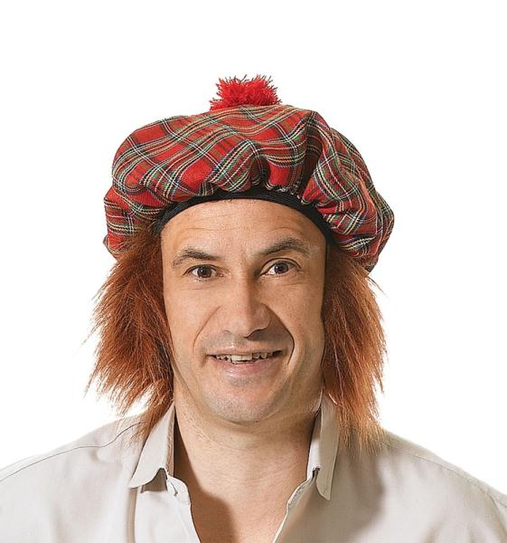 Scottish Hat with Hair - Tam O' Shanter