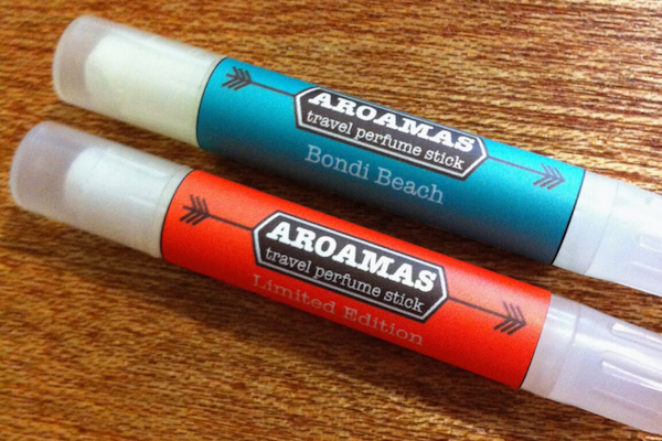 testing the aroamas label on natural lip tubes