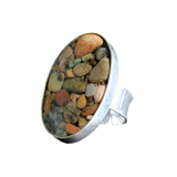 Cocktail Ring (Silver): Moonstone Beach, Cambria, California
