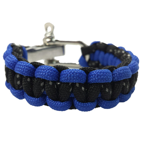 Classic Collection: Bi-Colour (Cobalt Blue/Reflective Black) Paracord Bracelet