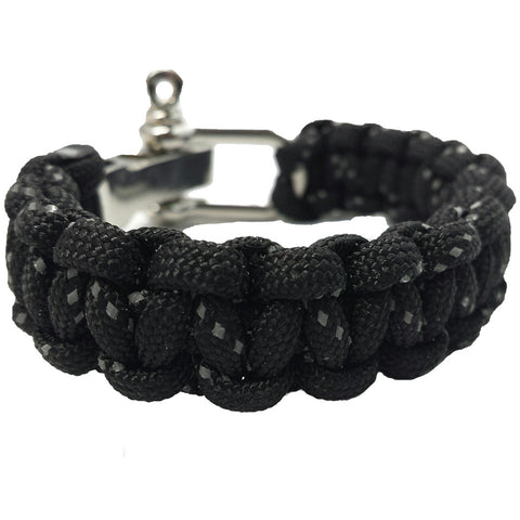 Classic Collection: Reflective Black Paracord Bracele