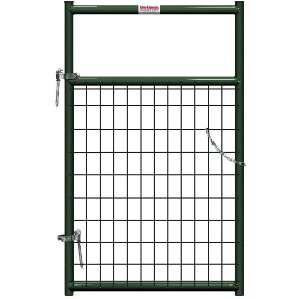 Behlen Country 40132032 Wire-Filled Gate, 36 in W Gate, 50 in H Gate, 6 ga Mesh Wire, 2 x 4 in Mesh, Green