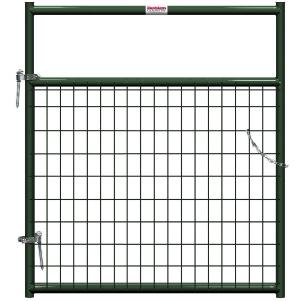 Behlen Country 40132042 Wire-Filled Gate, 48 in W Gate, 50 in H Gate, 6 ga Mesh Wire, 2 x 4 in Mesh, Green