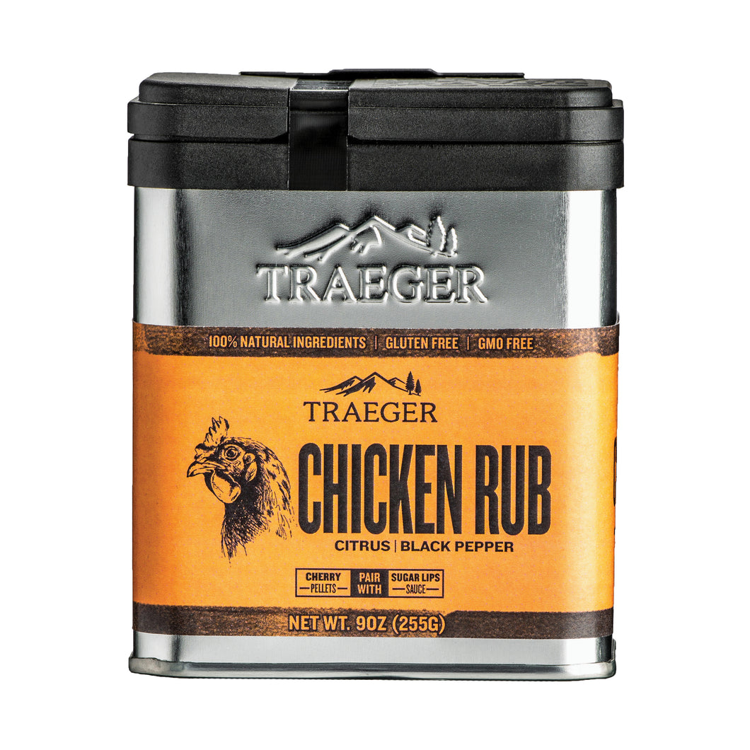 Traeger SPC170 Chicken Rub, Black Pepper, Citrus Flavor, 9 oz Package, Tin