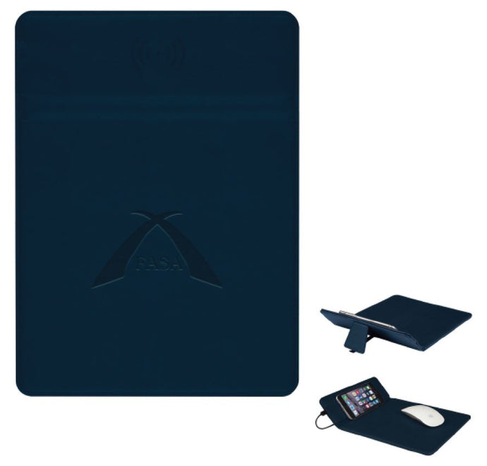 wireless charging mouse pad in navy