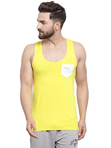 IC4 Men's Sporty Vest (Yellow, Charcoal and Black)