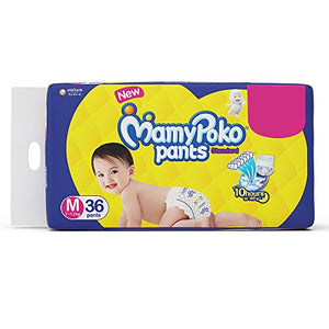 Mamypoko Standard Diaper Pants, Medium (Pack Of 36)